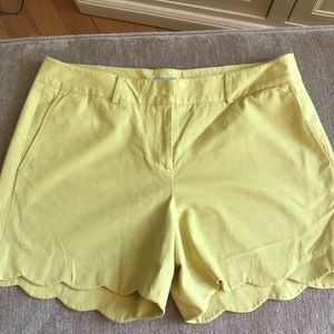 J McLaughlin Scalloped Shorts